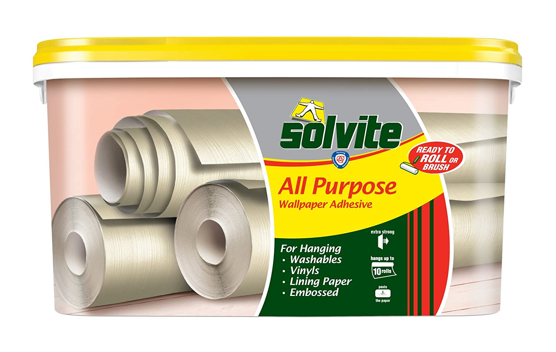 Solvite All Purpose 10 Roll Bucket Wallpaper Adhesive Ref 1584646 Henkel