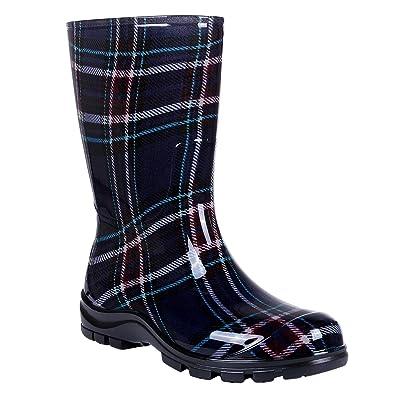 Asgard Women's Mid Calf Rain Boots Short Waterproof Garden Shoes | Mid-Calf