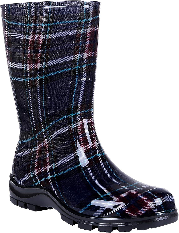 Asgard Women's Mid-Calf Rain Boots Short Waterproof Garden Shoes