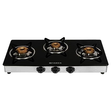 d45a33966 Buy Faber Splender Gas stove 3 Burner Glass Cooktop