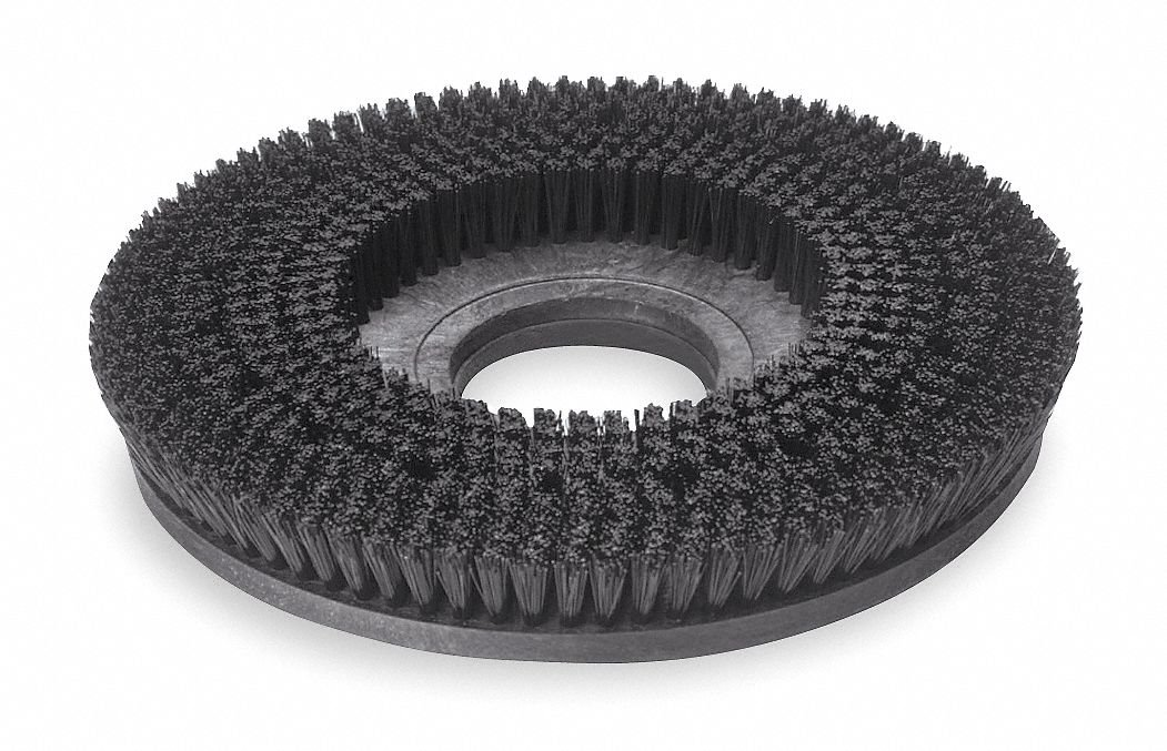 18'' Round Cleaning, Scrubbing Rotary Brush for 20'' Machine Size, Black