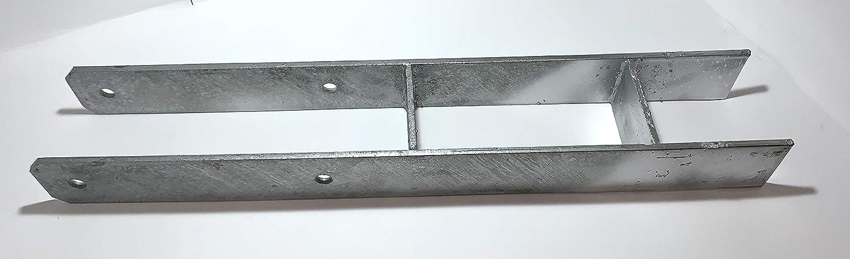 6 St/ück, 81 x 600mm BIAT /® H-Anker//Pfostentr/äger in feuerverzinkter Ausf/ührung