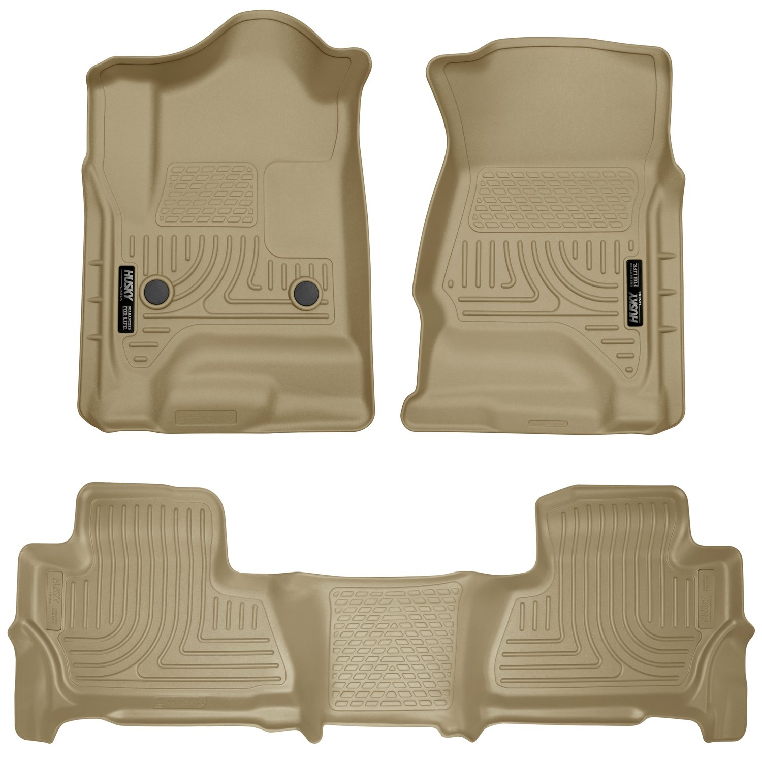 Husky Liners Front & 2nd Seat Floor Liners Fits 15-19 Tahoe/Yukon - TAN