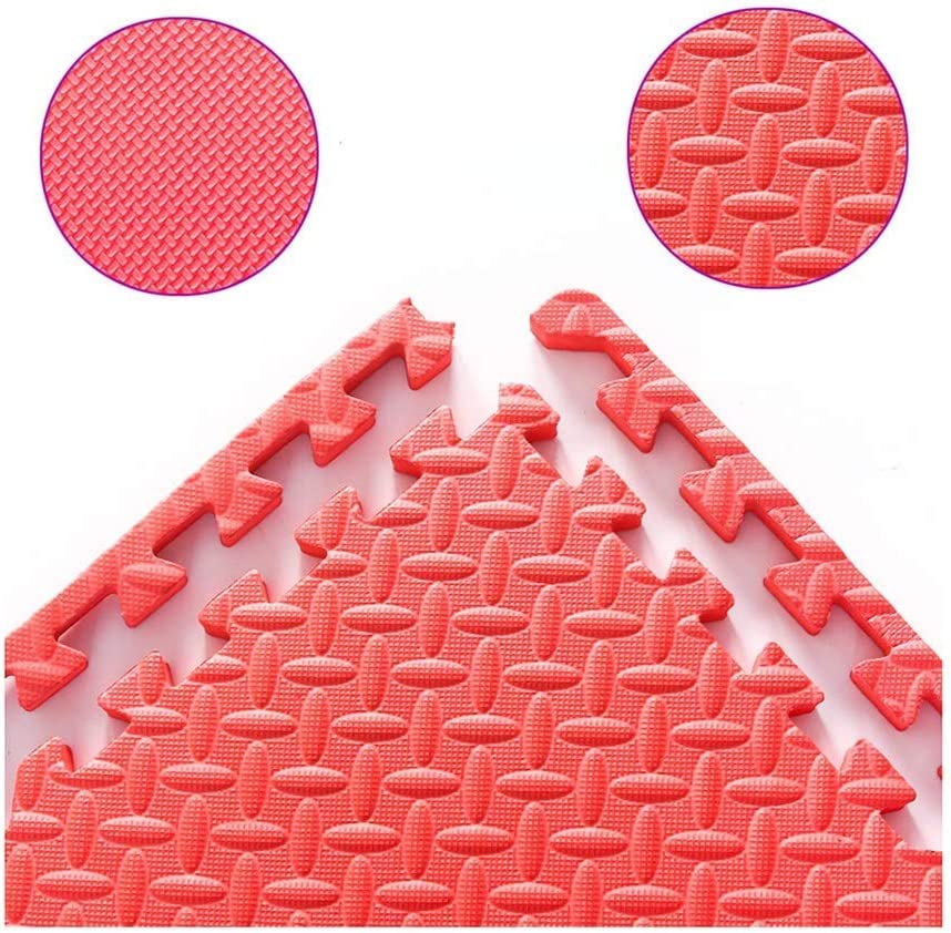 ZTMN Rompecabezas de Espuma Azulejos de Piso Alfombrilla de Juego para bebés Textura Cruzada con Borde de Seguridad Alfombras duraderas para talleres de Parque de diversiones, 7 Colores, 30x30x1
