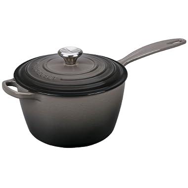 Le Creuset Signature Cast Iron Sauce Pan, 3.25-Quart, Oyster