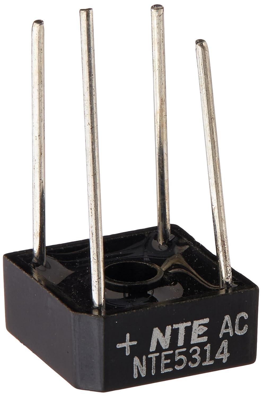 NTE Electronics NTE5314 Full Wave Single Phase Bridge Rectifier 8 Amps 400V Maximum Recurrent Peak Reverse Voltage