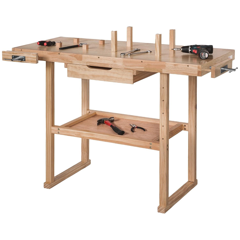Banco de trabajo de madera 117/x 47,5/x 83/cm TecTake