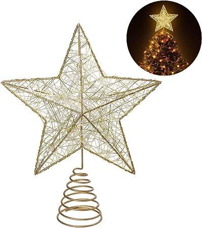 Arbre de Noël décoration paillettes d/'or Fil Arbre DECORE
