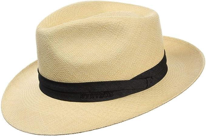 Stetson Jenkins Cappello Panama Uomo - Made in Ecuador di Paglia Cappelli  da Sole con Nastro Grosgrain Primavera/Estate: Amazon.it: Abbigliamento