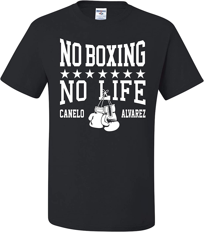 New Canelo Alvarez For The Glory T-shirt Men/'s//Women/'s Black/&White Shirt