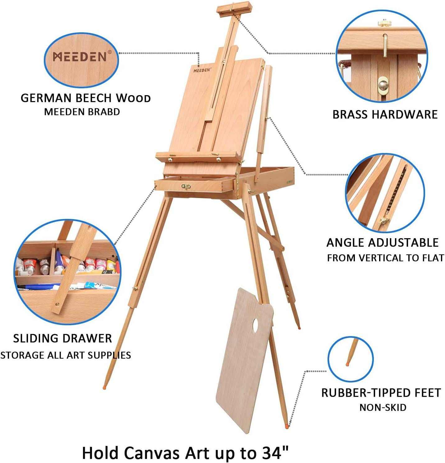 Malset with Wood Frame 150x60 Canvas Adults Painting Kit DIY n-A-0657-d-m