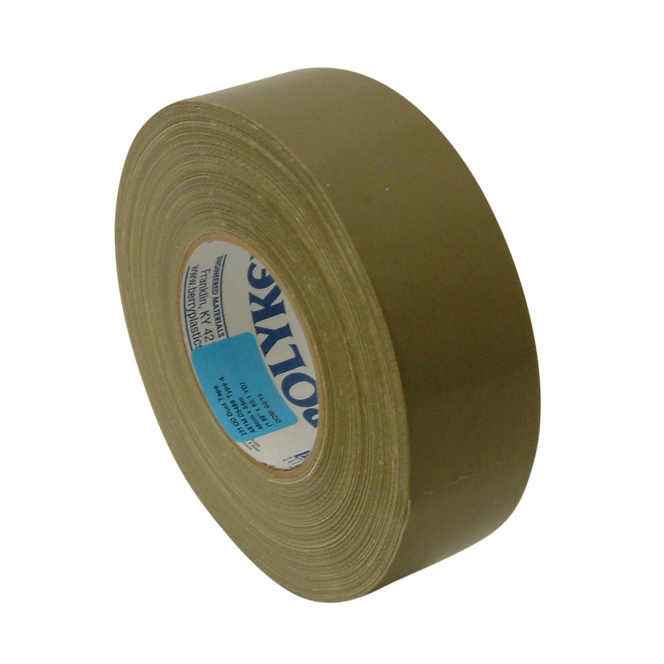Polyken 231/OD20160 231 Military Grade Duct Tape: 2'' x 60 yd. Branded, Olive Drab
