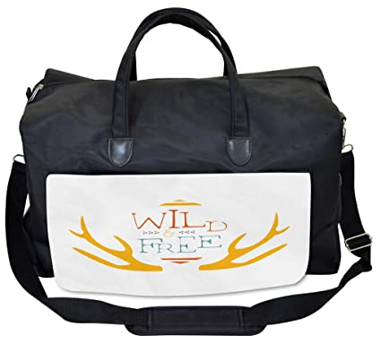 Image Unavailable. Image not available for. Color  Lunarable Wild and Free  Gym Bag ... 1108f51806b31