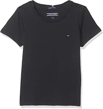 Tommy Hilfiger Girls Basic Cn Knit S/S Camiseta para Niñas