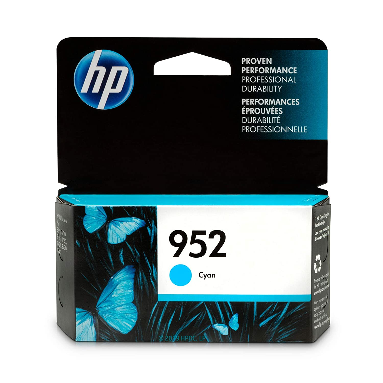 HP 952 Ink Cartridge Cyan (L0S49AN)