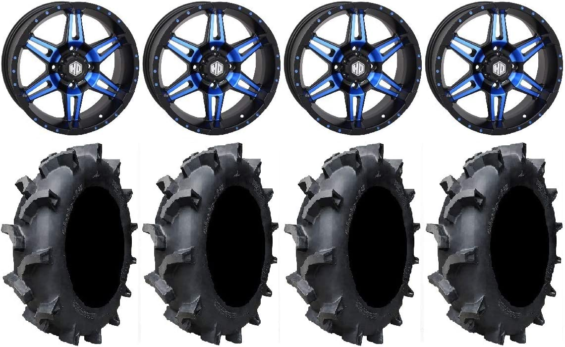 4x137 Bolt Pattern 12mmx1.5 Lug Kit Bundle System 3 SB-3 Black 14x7//14x10 Wheels 30 Sand Slinger Tires 9 Items
