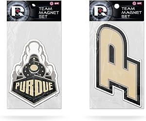 Rico NCAA Purdue 2-Pc Small Magnet Set Part Sports Fan Home Decor, Multicolor, One Size