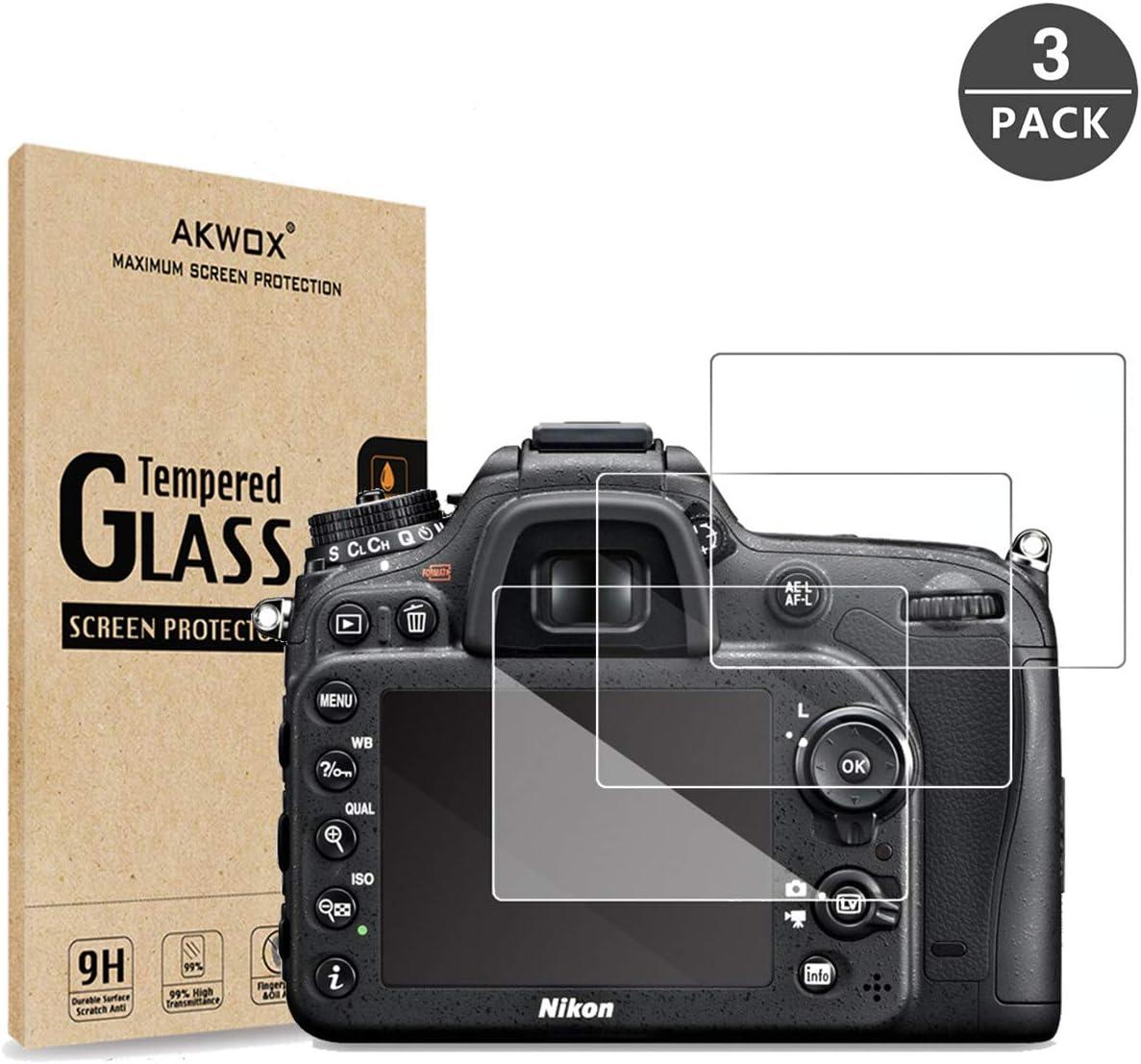 3 Unidades] Protector de Pantalla para Nikon D3400 D3300 D3200 ...
