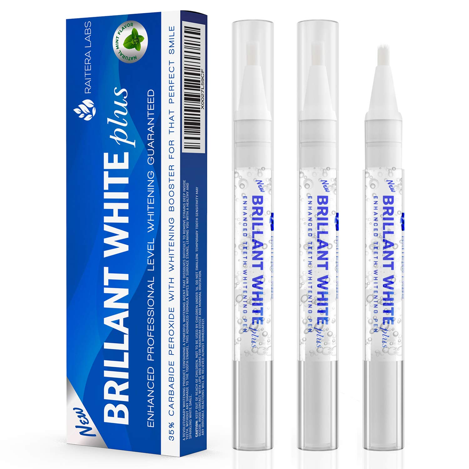 Raitera Teeth Whitening Pen Kit With Whitening Booster | Powerful 35% Carbamide Peroxide Teeth Whitening Gel | Tooth Whitening Pen | Teeth Whitening Kit Gel Pens for Sparkling White Teeth Whitener