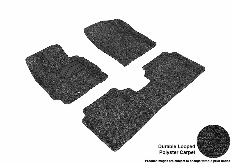 3D MAXpider Front Row Custom Fit Floor Mat for Select Hyundai Elantra Models Tan L1HY02112202 Classic Carpet