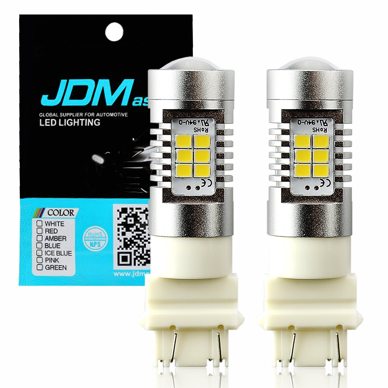 JDM ASTAR 1260 Lumens Extremely Bright PX Chips 3057 3156 3157 4057 4157 White Backup Reverse LED Bulbs