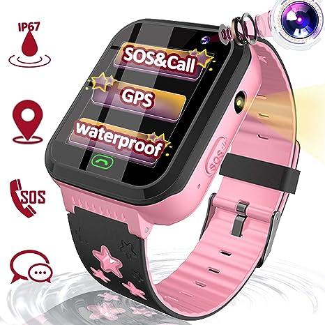 TURNMEON Kids Smart Watch GPS Tracker, Waterproof Smartwatch Phone for Age 3-12 Boys Girls, Toddler Electronic Wrist Watch Outdoor Sport Watch with ...