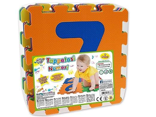 100 opinioni per Teorema 72463- Tappetini Puzzle con Numeri, 9 Pezzi, Colori e Numeri Assortiti