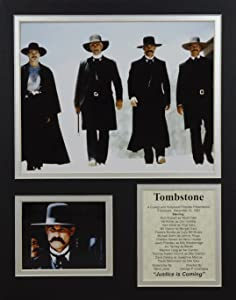 """Tombstone 11"""" x 14"""" Unframed Matted Photo Collage by Legends Never Die, Inc"""