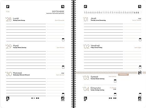 Oxford Nude – Agenda escolar (semanal 2017 – 2018 1 semana por 2 páginas 160 páginas 10 x 15 cm plata