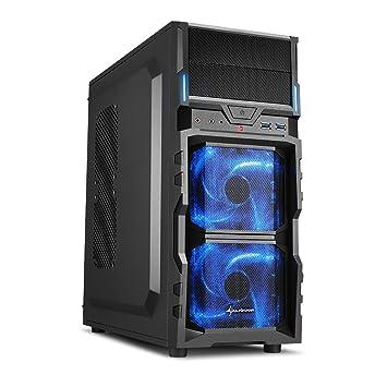 Sharkoon VG5-V - Caja de Ordenador Gaming (semitorre ATX, iluminación Azul,