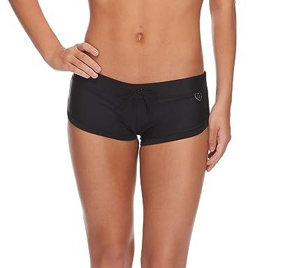 ef66c8d256 Body Glove Women's Smoothies Sidekick Solid Sporty Bikini Bottom Swimsuit  Short, Black, X-