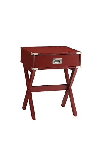 Acme Furniture 82820 Babs End Table, Red, One Size