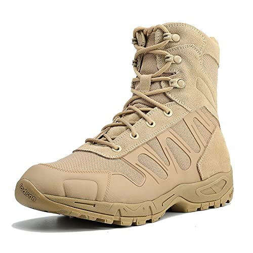 35e15dd9ef7 IODSON US New Military Athletic Tactical Comfort Leather Boots Mens'  Ultra-Light Combat Boots Waterproof
