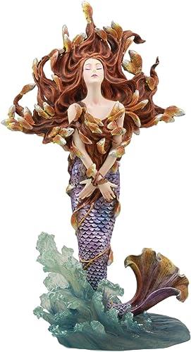 Ebros Sheila Wolk Masterpiece Metamorphosis Mermaid Statue 12 Tall Mythical Fantasy Mermaid Rising Over Ocean Waves Figurine