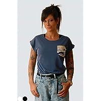 Camiseta kanagawa wave con tela japonesa para mujer