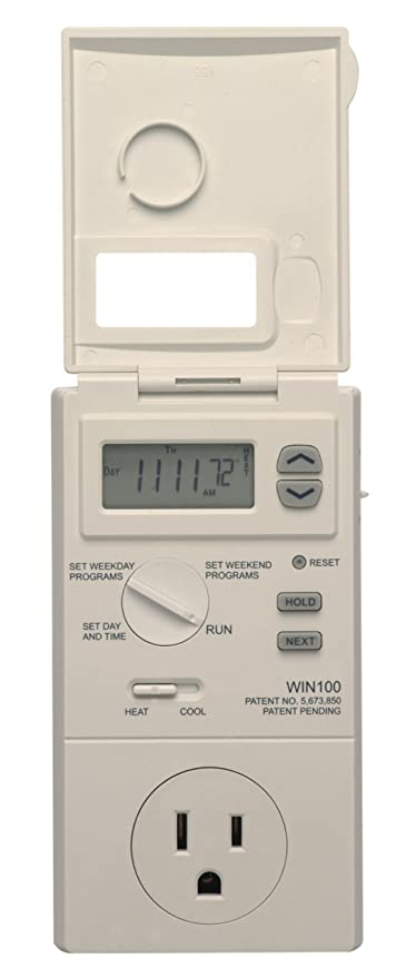 Lux WIN100 Heating & Cooling Programmable Outlet Thermostat by Lux: Amazon.es: Bricolaje y herramientas