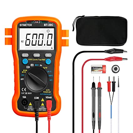 btmeter bt 39c true rms digital multimeter auto ranging for ac dc voltage,current, resistance, capacitance tester with temp battery led test auto arduino mosfet led advantages of a 24v led system vs 12v