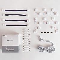 Ledstrip connector, ledstripverlenging, hoekverbinder, ledstrip bevestigingsclips, voor 10 mm 4-polig RGB 5050 ledstrip