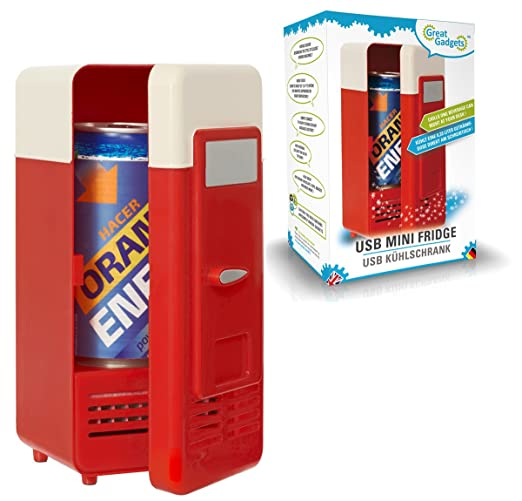 Home & Garden Usb Powered Mini Fridge Can Cooler Refrigerator Beer Soda Neon Red Modern Techniques Refrigerators & Freezers