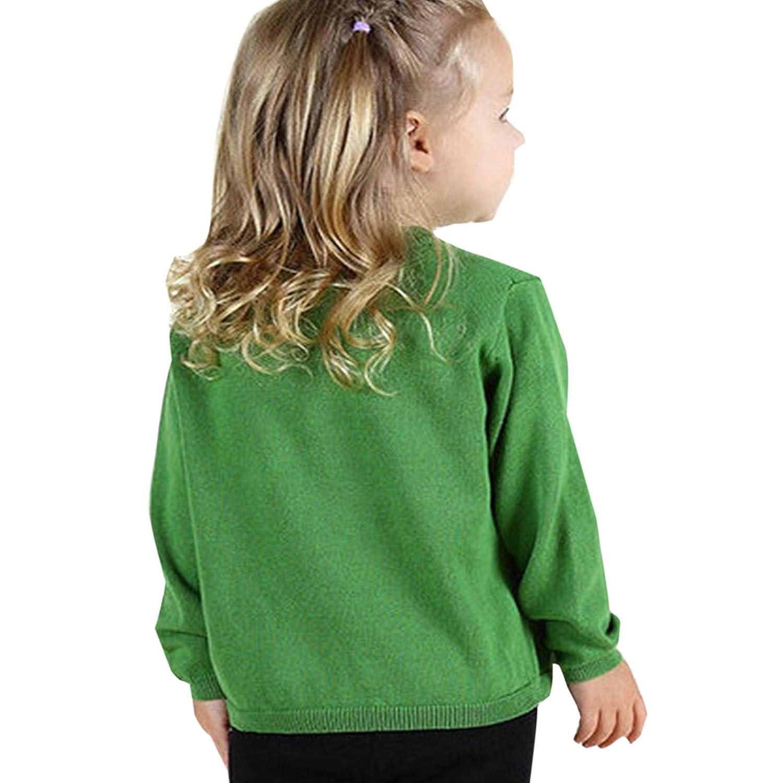 Cicilin Gilet Tricot B/éb/é Enfant Fille Cardigan Manches Longues Souple Sweater de Boutonnage