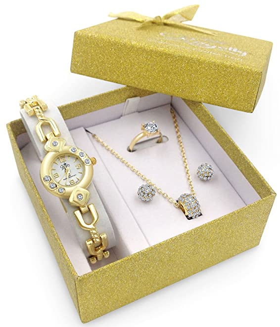Exceptional Best Gift For Ladies Part - 13: Amazon.com: Royalty Watch Jewelry Gift Set Girlfriend Female Wife Mom  Sister Daughter Her Birthday: Jewelry