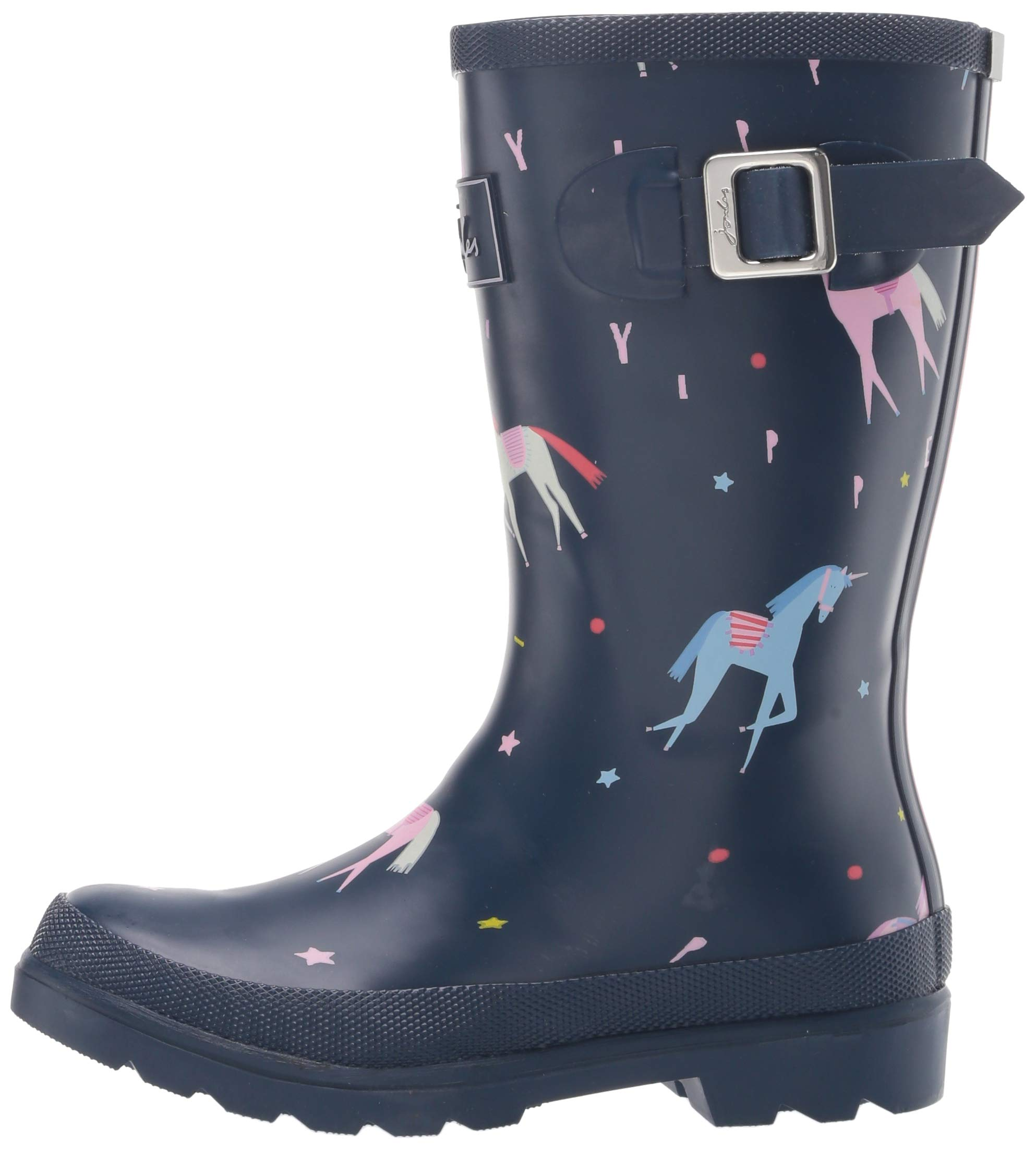 Joules Girls' JNR Welly Print Rain Boot, Blue Unicorn, 3 M US Little Kid by Joules (Image #5)