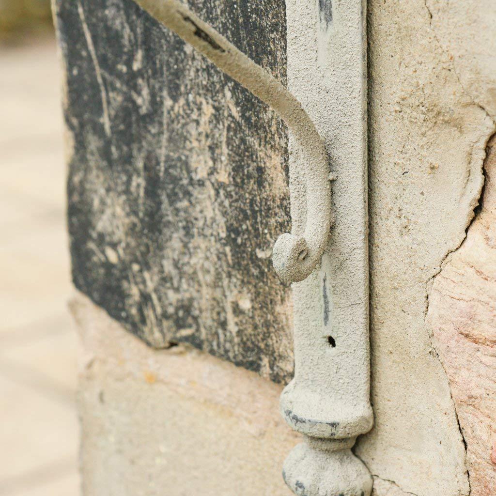 Lot de deux crochets de suspension Gris vieilli de style antique/ lanternes et autres ext/érieur D/écoration /Style shabby chic effet vieilli en fonte Fixation murale Id/éal pour les paniers robuste et fa pots de fleurs
