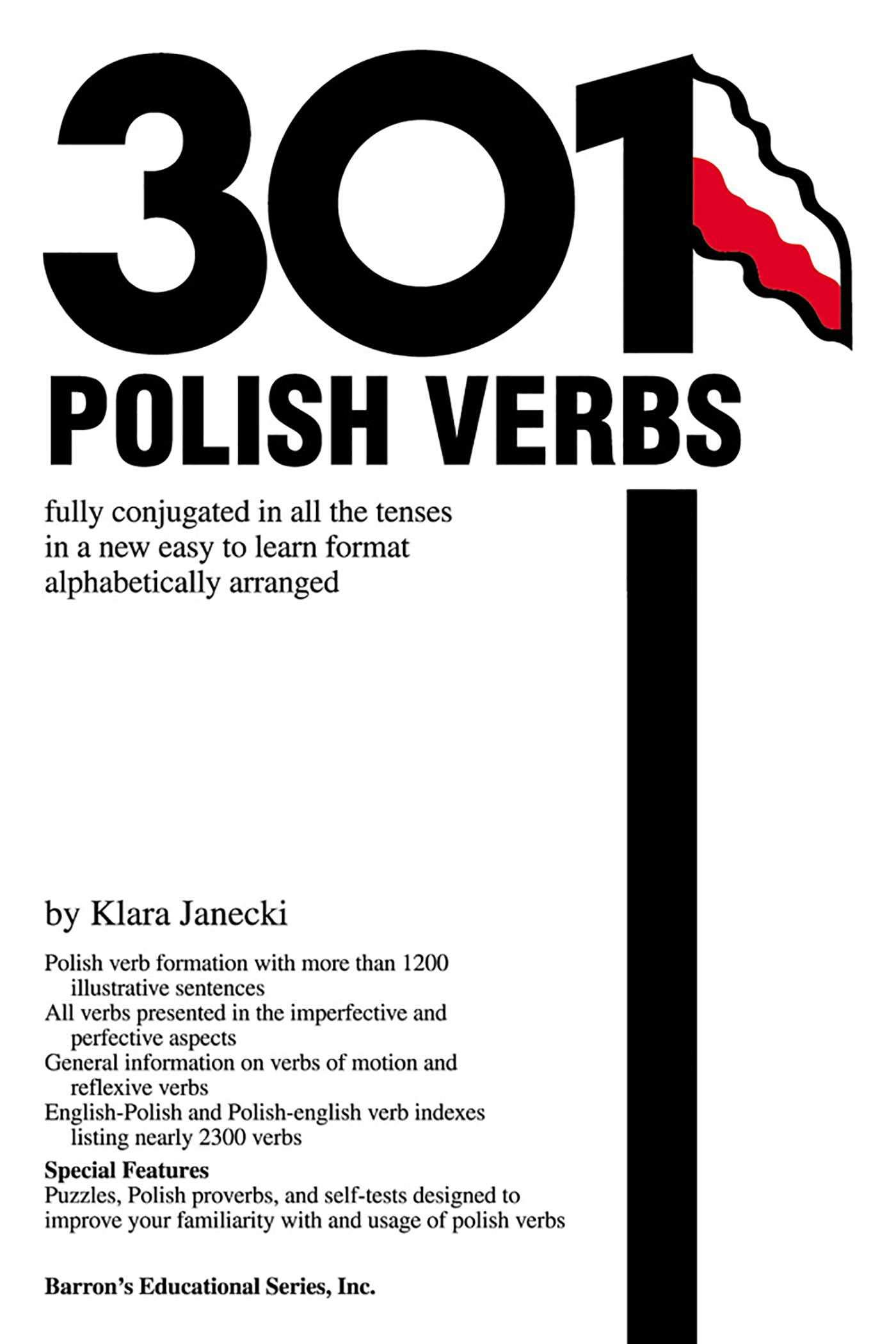 amazon 301 polish verbs 201 301 verbs series klara janecki