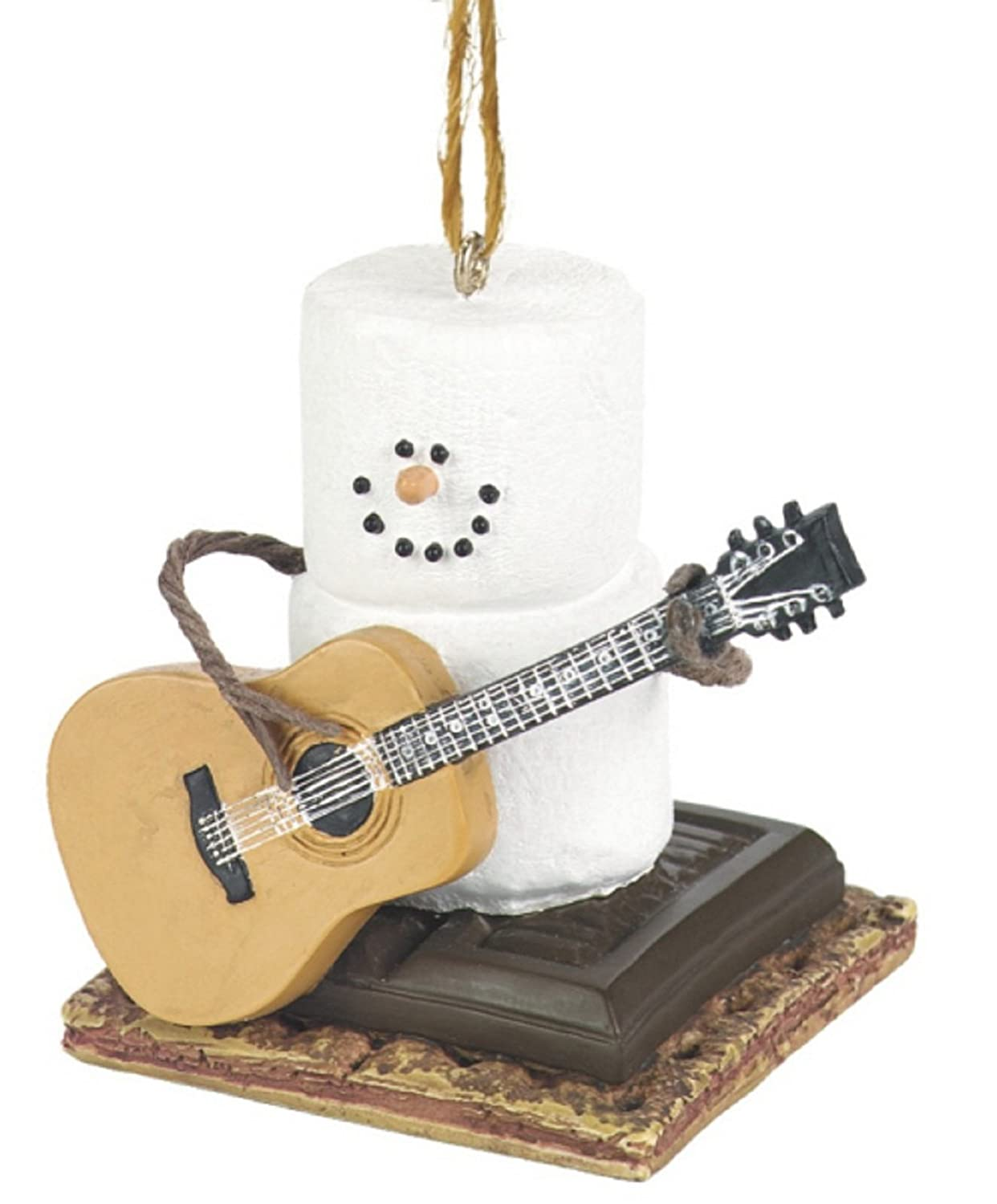 Amazoncom Snowman Ornament  Marshmallow Snow Man Playing Guitar