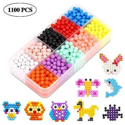 Amazon com: ANTOGOO Fuse Water Beads Kit, 10 Colors 1100