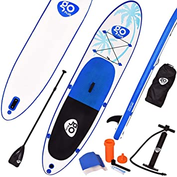 COSTWAY Tablas Paddle Hinchables Remo Surf de Board Tablero Sup Board Stand Up Set 330 * 76 * 15cm Inflable Blanco y Azul: Amazon.es: Deportes y aire libre