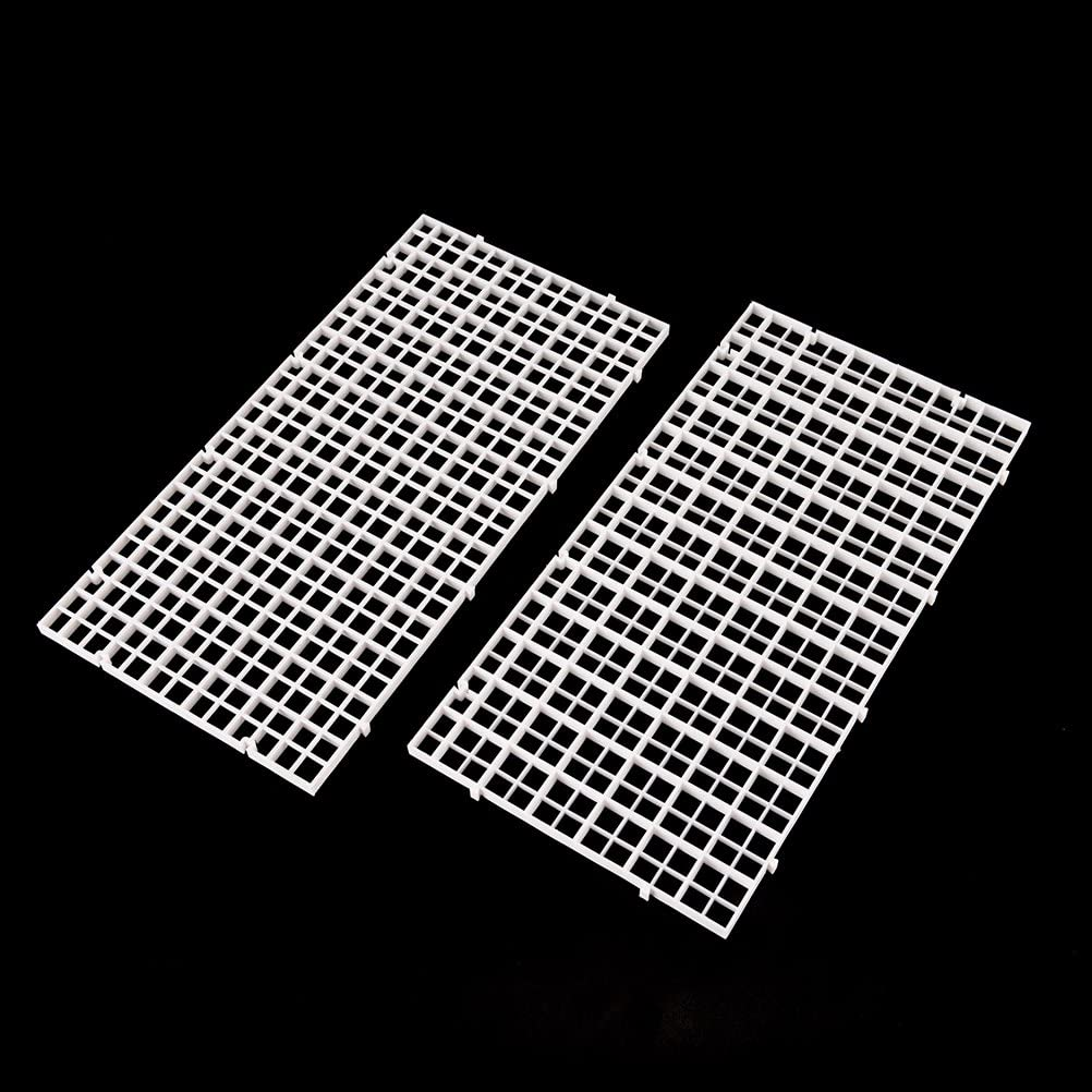 Snap Together /& Cutting Feature Plastic Aquarium Divider Panel Separator Aliyaduo 8 Pack Fish Tank Divider Egg Crate Fish Tank Bottom Tray Grid Isolation Board Divider