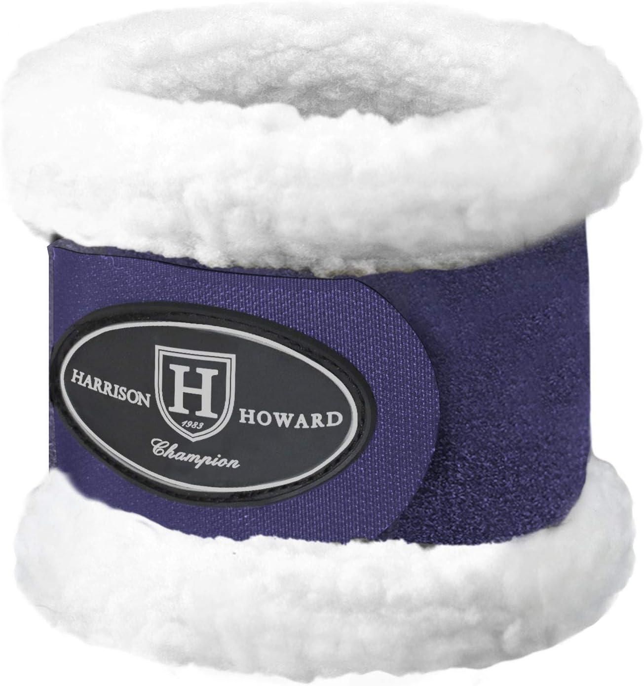 Harrison Howard Premium Horse Pastern Wraps with Berber Fleece Lining-Navy : Pet Supplies