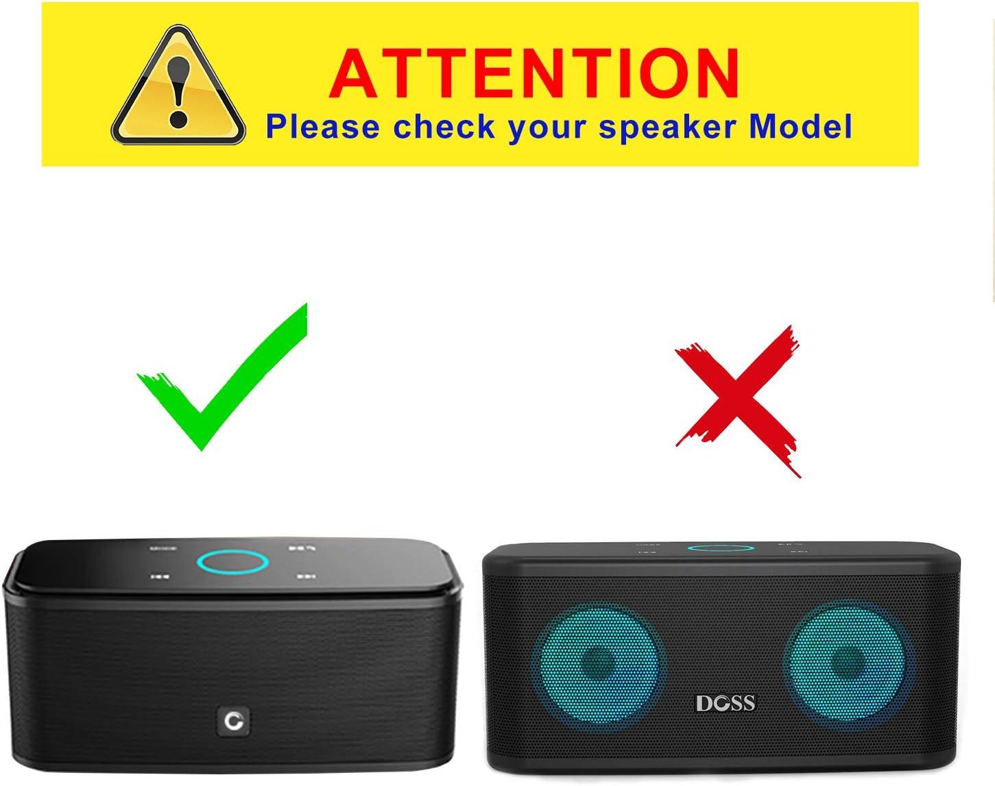 DOSS SoundBox Official Protective Hard EVA Travel Case Black
